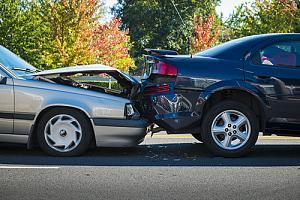 Auto collision on street