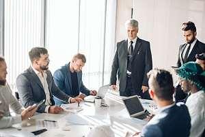 Company executives having a meeting