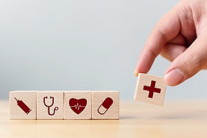 building blocks representing individual health insurance