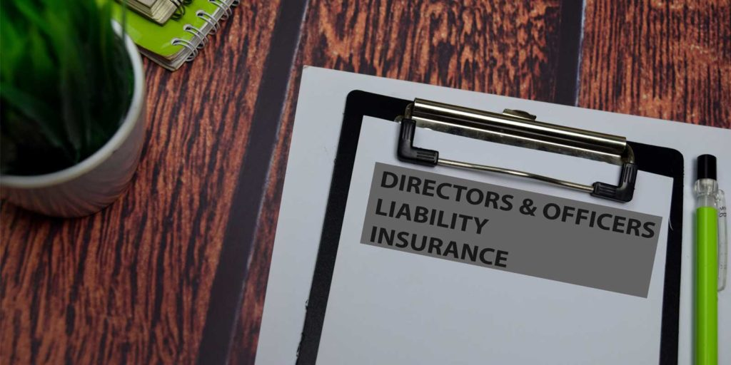 Directors and officers liability insurance paperwork