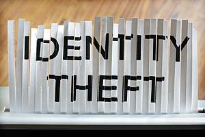 Identity theft page being shredded