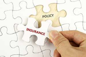 White puzzle with word Insurance and policy.Small businesses may particularly benefit from product recall insurance