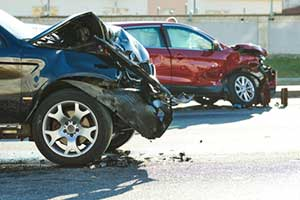 Two cars involved in a car accident in Springfield Illinois