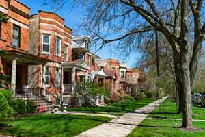 Homes in Chicago protected by Illinois home insurance