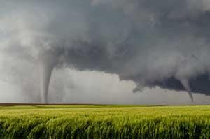 Tornadoes in an Illinois field