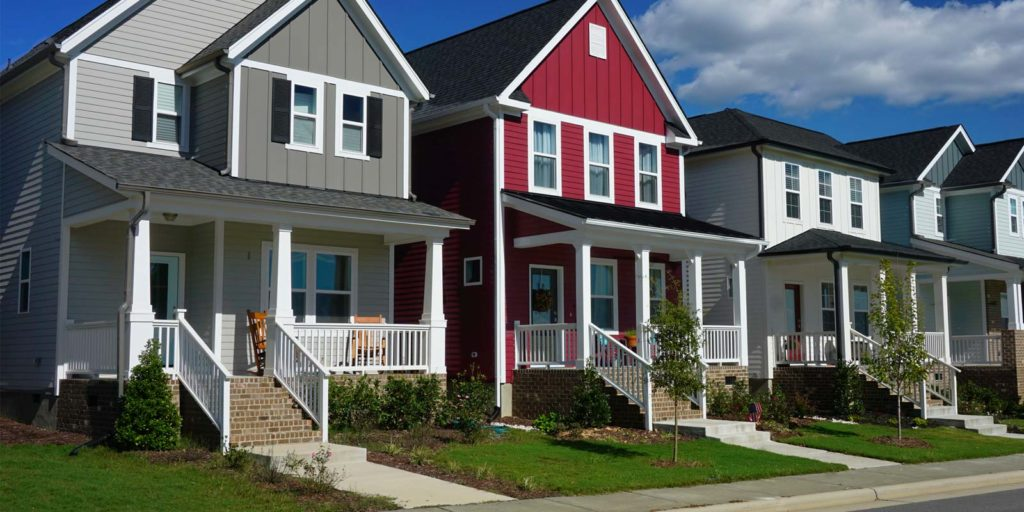 houses in a neighborhood that are protected by HOA insurance