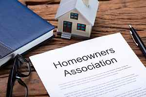 Homeowners association form. HOA insurance is necessary to protect the HOA