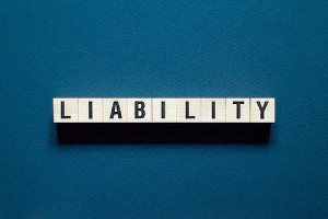 Liability word concept. HOA insurance can prevent undue liability