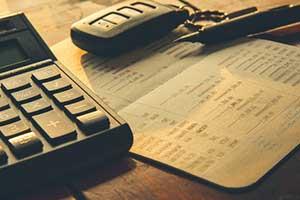 Paperwork for a car's actual cash value