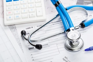 hospital billing concept with medical payments coverage