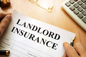 landlord insurance cover form on paper