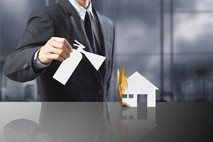 burning house fire needing landlord insurance policy