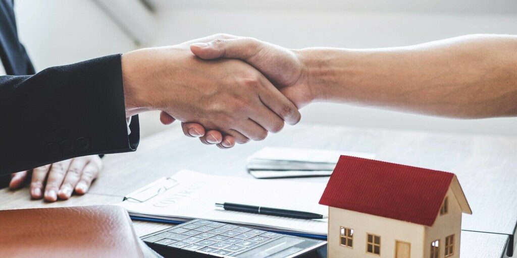 finishing to successful deal of real estate